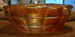 """VINTAGE IMPERIAL MARIGOLD CARNIVAL GLASS 7.5"""" SERVING BOWL"""