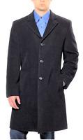 Hathaway Platinum Men's Wool & Cashmere Coat, Charcoal, Size 42r