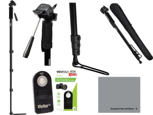 """REMOTE FOR CANON REBEL T3I T4I 7D T5I T6I T7I 72/"""" SPORTS MONOPOD FOOT STAND"""