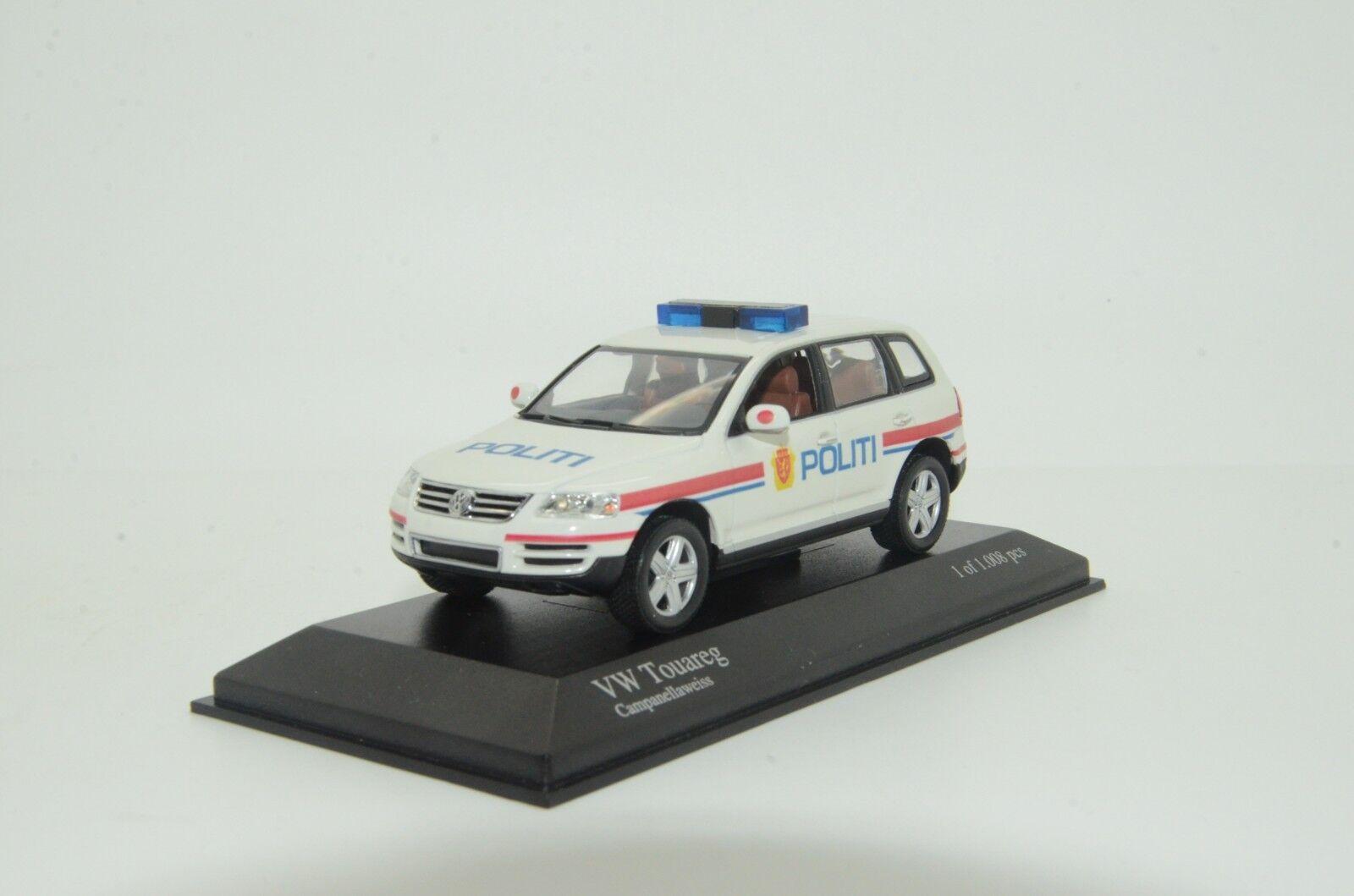rara VW Touareg Antiguo Noruega Koek policía Hecho a Medida 1/43