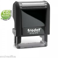 Trodat 4910 Printy Rubber Stamp - 24x7mm Self Inking Custom Rubber Stamp