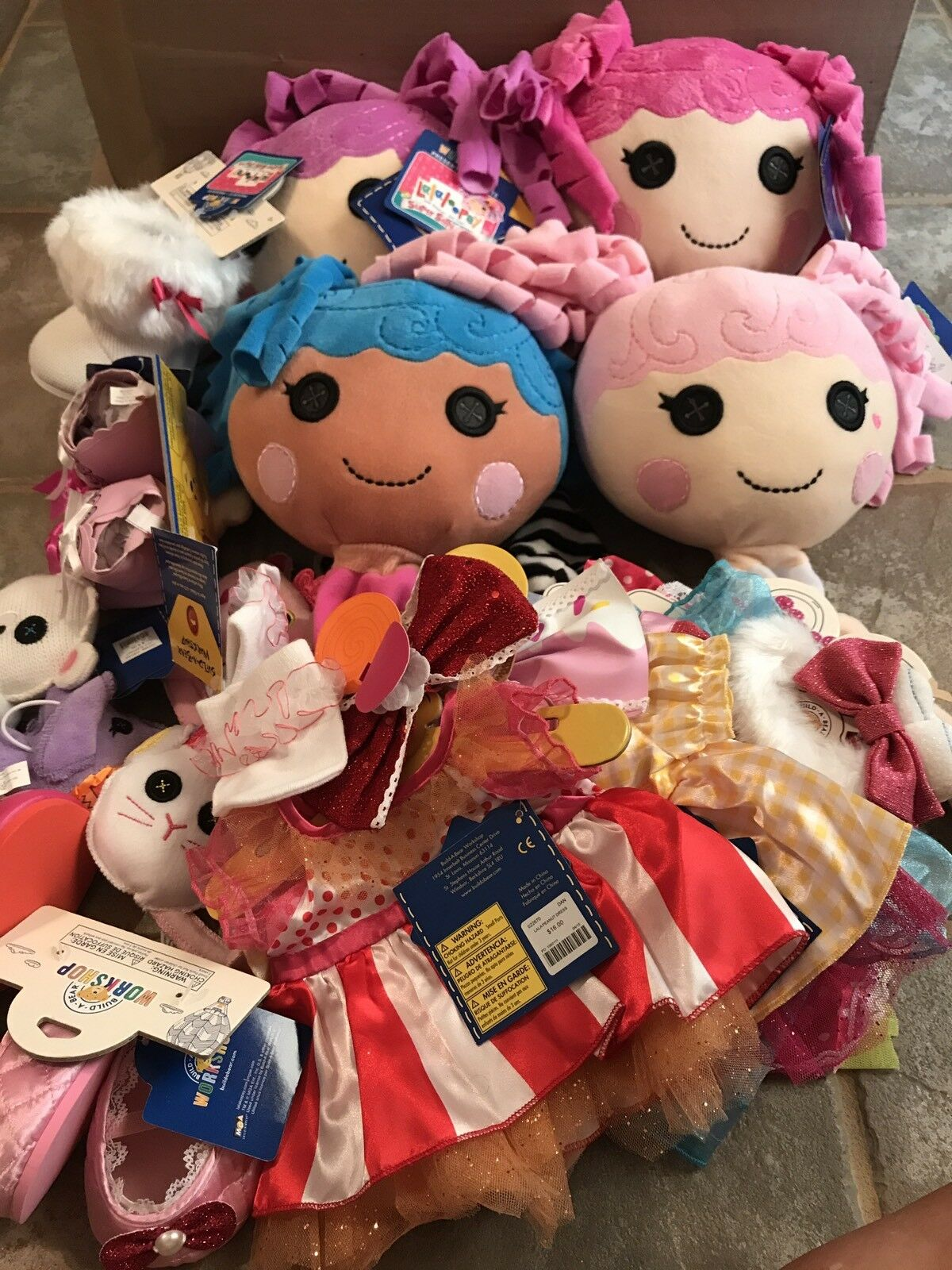 Build a Bear Lalaloopsy Dolls Set Of All 4 Full Size Dolls With Outfits Pets NEW