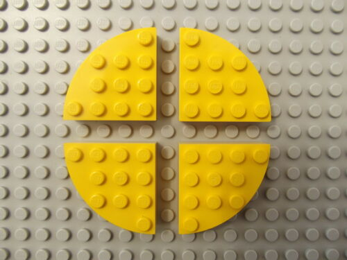 Circle Brick Round 4 x 4 Pieces 2577 Choose Your Colour 4 LEGO Quarter Full