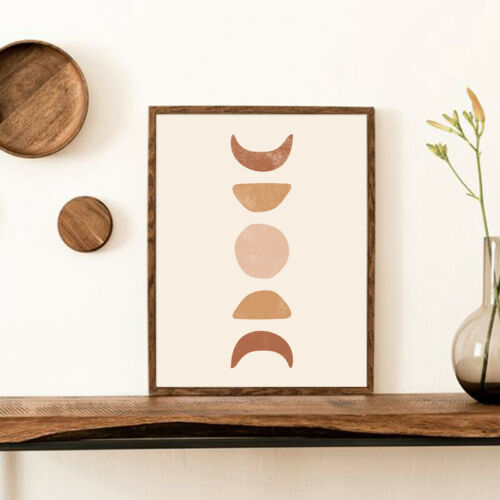 Abstract Moon Phases Poster Prints Boho Wall Art Canvas Painting Bedroom Decor