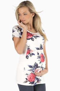 Rose-Printed-Maternity-T-Shirt