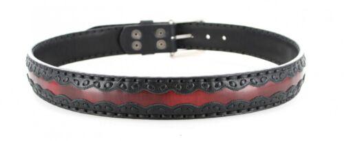 Sendra Boots 8347 Negro Rojo Ledergürtel für Herren Damen Schwarz Rot