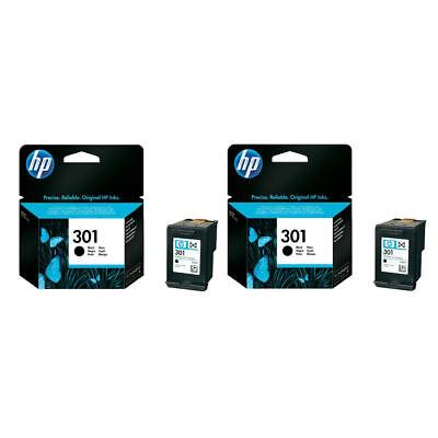 2x Genuine Original HP 301 Black Ink Cartridges For Deskjet 2542 Inkjet Printer