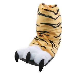 Kleidung & Accessoires Willensstark Tiger Tatze Tier Hausschuhe Pantoffel Schlappen Plüsch Kinder Orange 36-41