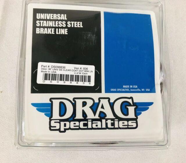 "Harley Davidson Universal 19/"" Braided  Stainless Steel Front//Rear Brake Line DOT"