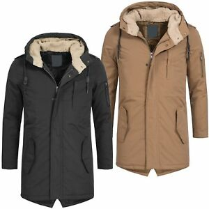 AZ-Fashion-Herren-Parka-Mantel-Jacke-Winterjacke-warm-Teddyfell-S-XL-AZ32