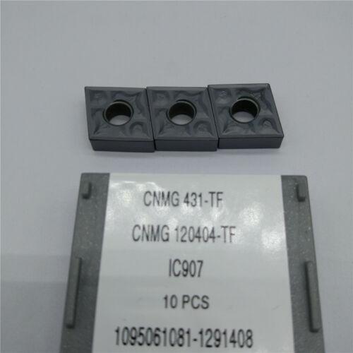 10pcs ISCAR CNMG431-TF IC907 CNMG120404-TF IC907 Carbird Inserts