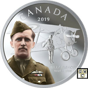 2019-039-Billy-Bishop-039-Colorized-Proof-20-Silver-Coin-1oz-9999-Fine-18696-NT