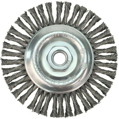 """3 Pack 5/"""" x 5//8-11/"""" Stringer Bead Wire Wheel Stainless Steel For Angle Grinder"""