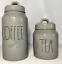 "thumbnail 1 - Rae Dunn Ceramic Grey ""COFFEE & TEA"" Canisters-----BRAND NEW!"