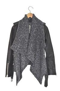 STUNNING-AllSaints-Ladies-Leather-TEXTURED-WRAP-BIKER-Jacket-UK2-US00-EU30