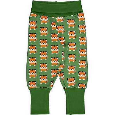 SS20 Maxomorra Tangerine Tiger Rib Pants Organic Cotton Scandi Joggers