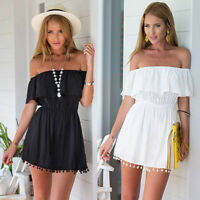 Sexy Women Summer Off Shoulder Evening Party Cocktail Casual Short Mini Dress