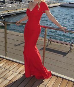Abendkleid Rot Marke Jarlo Meerjungfrau Stil One Shoulder Ebay