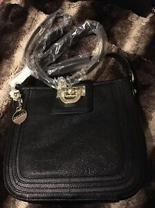 ᄄᄂ Dkny Lea Sac cuir bandouliᄄᄄre en noirvintage H9IYWED2e