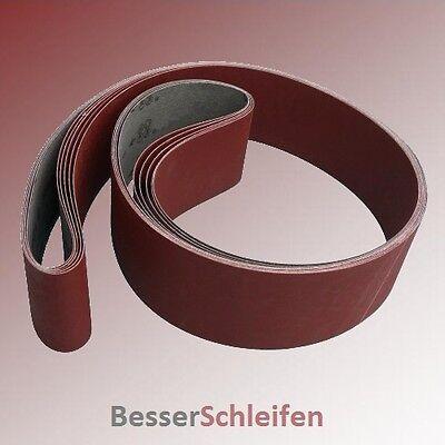 10 Schleifbänder Schleifband 75x2000 mm Körnung P120 z.B für Bernardo Scantool