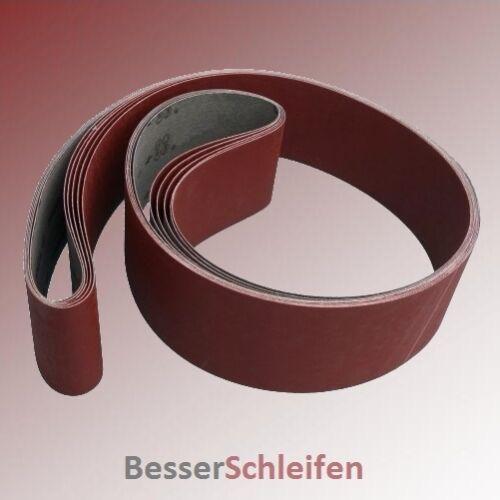 5 Schleifbänder Schleifband 75x2000 mm Körnung P120 z.B für Bernardo Scantool