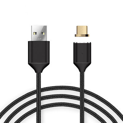 Magnetic Type-C Micro USB Fast Charging Charger Cable for LG Samsung S7 S8 Plus