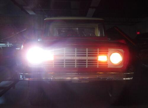 DOT 1966-1978 Ford Bronco Black 7inch Round LED Headlights Hi//Lo Beam DRL 2Pcs