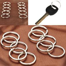 10pcs Flat Split Rings Keyrings  25mm Keychains Silver Plated Metal Keys Holder