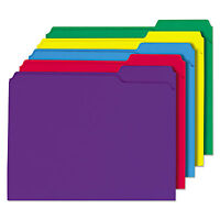 Universal File Folders 1/3 Cut Double-ply Top Tab Letter Assorted Colors 100/box on sale