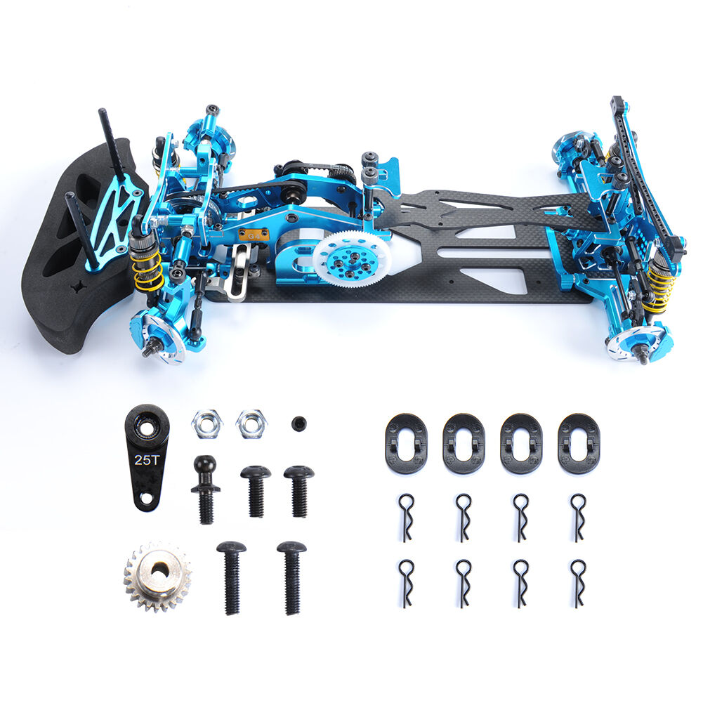 Alloy&Carbon Frame Chassis Body G4 Kit RC 1 10 Car Drift Racing Model Car 4WD