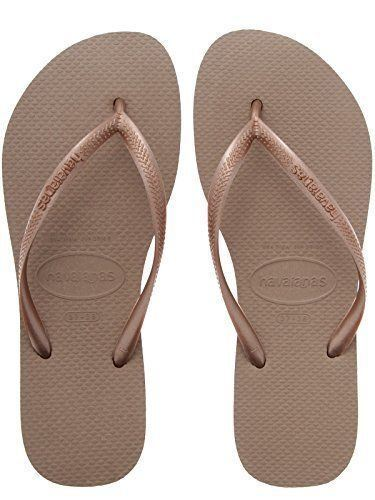 206e434eec0e Havaianas Ladies Flip Flops Slim Beach Sandals All Size Black White Purple  Green Rose Gold 6-6.5 for sale online