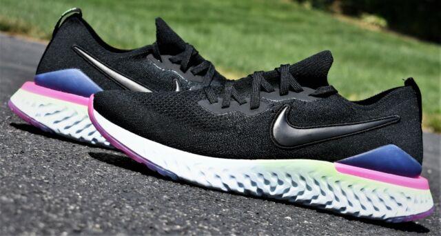 b70bbfa997e NIKE EPIC REACT FLYKNIT 2 - New Men's Black Sapphire Running Shoes MSRP $150