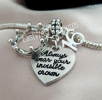 Sweet 16 16th Birthday Charm Pendant Bracelet Necklace Always Wear Your Crown Ebay