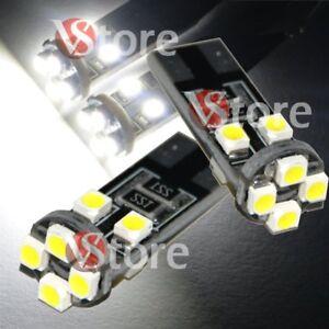 2-Led-T10-Lampade-Canbus-8-SMD-3528-Luci-BIANCO-Posizione-Targa-Auto-White-12Vat