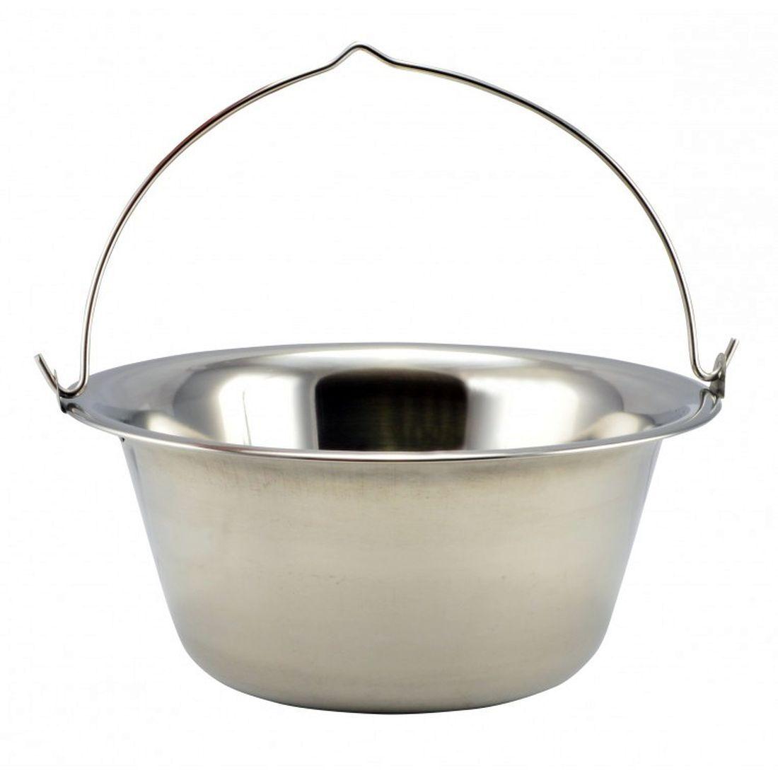 Goulash Boiler  15 L  acier inoxydable + boisen Spoon + Spices  1,2mm