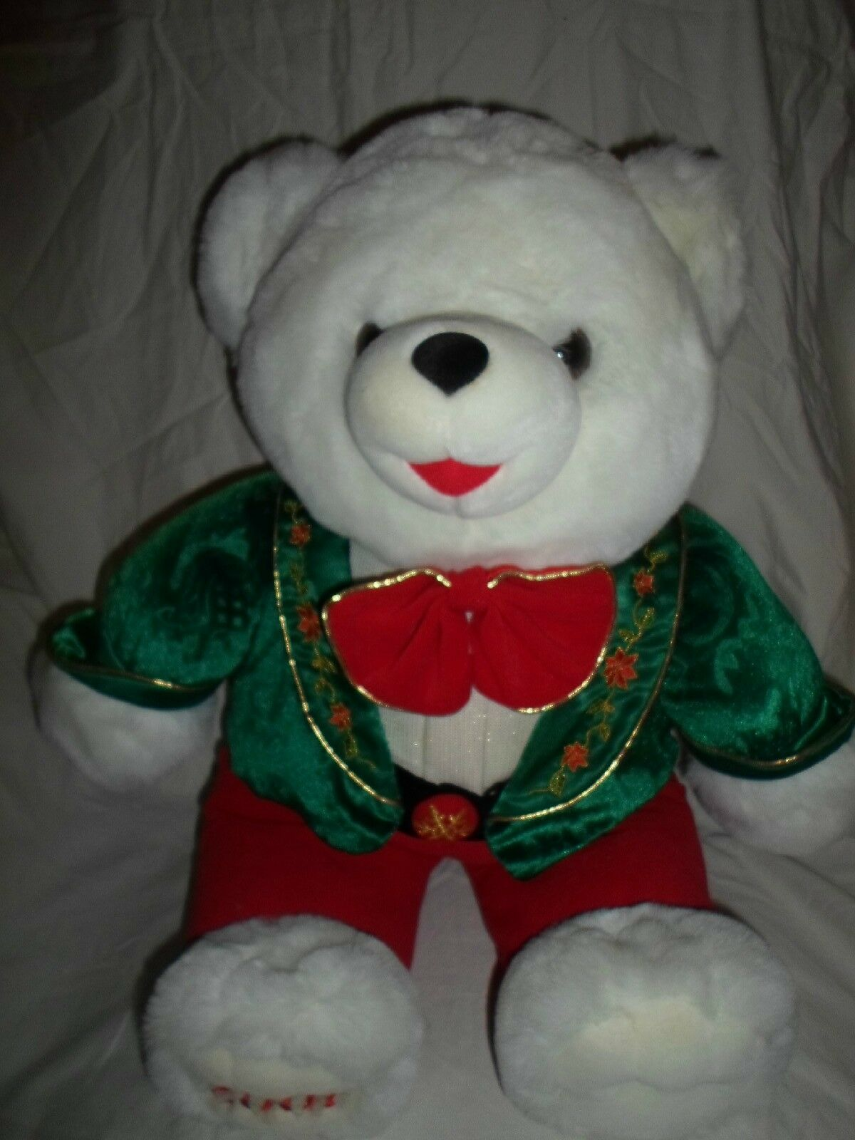 2001 Snowflake Teddy Bear Christmas Holiday Plush Soft Toy Stuffed Animal 22