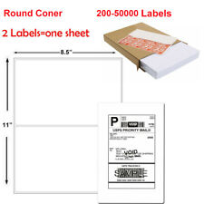 85x55 Round Corner Shipping Labels 2 Per Sheet Postage Self Adhesive Usps Ups