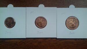 finlande 2004 pièces neuves 1 2 5 cents