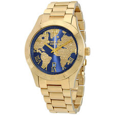 Michael Kors Layton Blue Crystal Pave Dial Gold-tone Ladies Watch MK6243