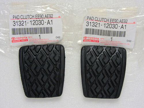 Genuine Toyota Corolla E70 E80 E90 E100 E110 2X Brake Clutch pedal pad Manual
