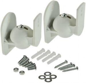 2-x-Wandhalter-Halterung-fuer-Lautsprecher-dreh-neigbar-max-5kg-weiss-Paar-Top