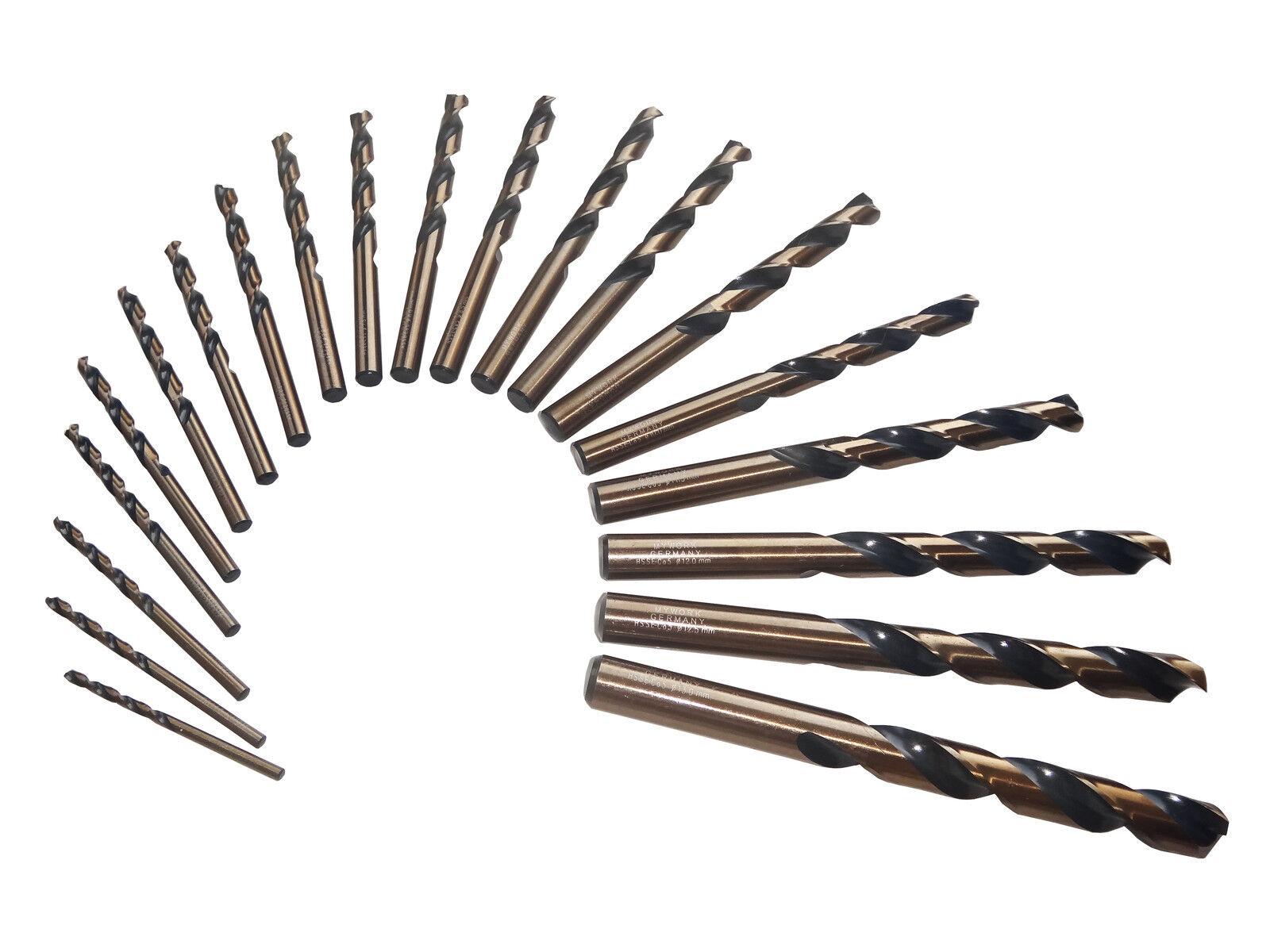 10x je Ø MyWork Edelstahlbohrer HSSE HSS-Co5 Spiralbohrer DIN338  Metallbohrer