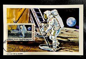 US C76 First Man Moon Landing JFK NASA Space Apollo11 Maximum Card FDC 1969