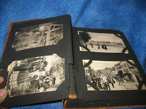 Postcard-Album-Over-135-Antique-Cards-Europe-Unused-Divided-Back-Great-Condition