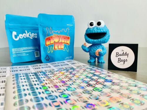 25ct Assorted Runtz Cookies Mylar Bags Zip Lock Bag *FREE STICKERS /& LABELS*