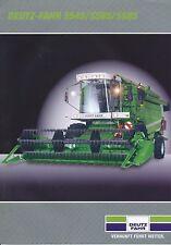 Deutz-Fahr 5545 5565 5585 Mähdrescher Prospekt 11/03 Broschüre 2003 Landmaschine