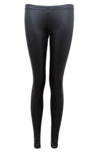 Women/'s Ladies New PVC Skirt Wet Look Leather Legging Sleeveless Cami Top Dress