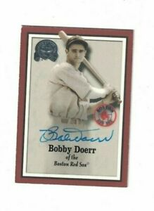 Bobby Doerr Boston Red Sox Signed 2000 GOTG Baseball Card W/Our COA