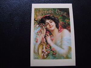 Francia-Tarjeta-Postal-Publicite-Biscuit-Lefevre-Utile-B10-Francesa