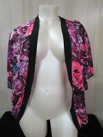 Swimwear Top Coverup Sz L (12-14) Catalina Sheer Floral Print Dolman Sleeve